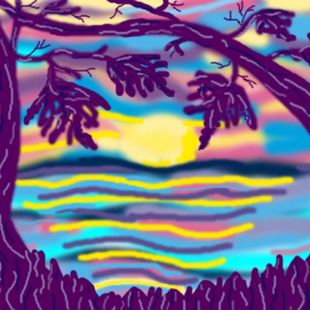 Digital Sunset Painting