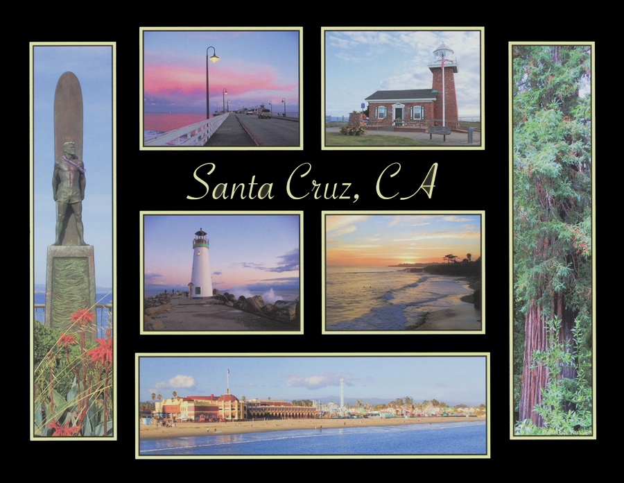 Santa Cruz 7-Photo Collage Magnet