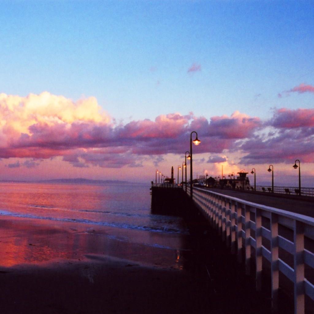 Cloudy Santa Cruz Wharf