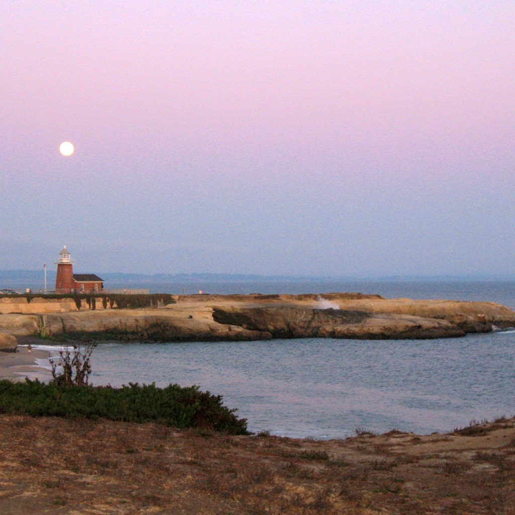 Full Moon Over Lighthouse