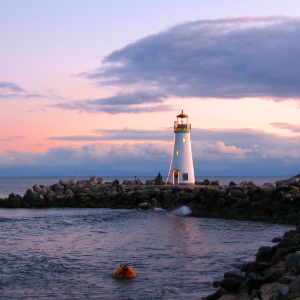 New Lit Lighthouse