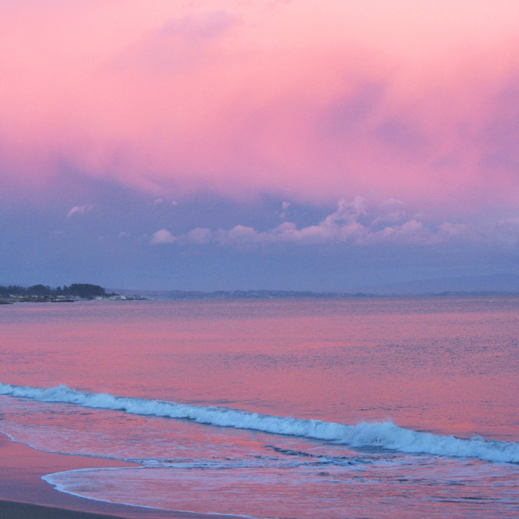 Pink Clouds Over Ocean