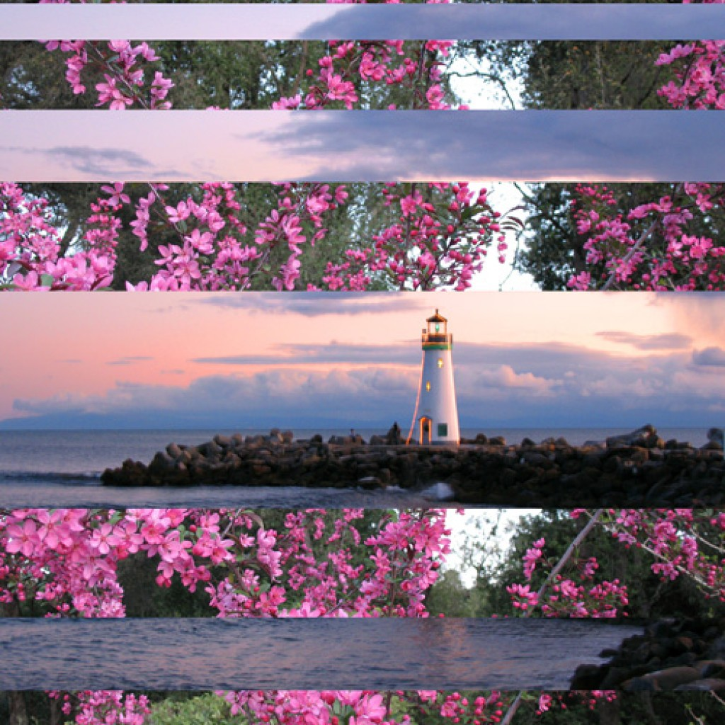 Pretty in Pink Lighthouse