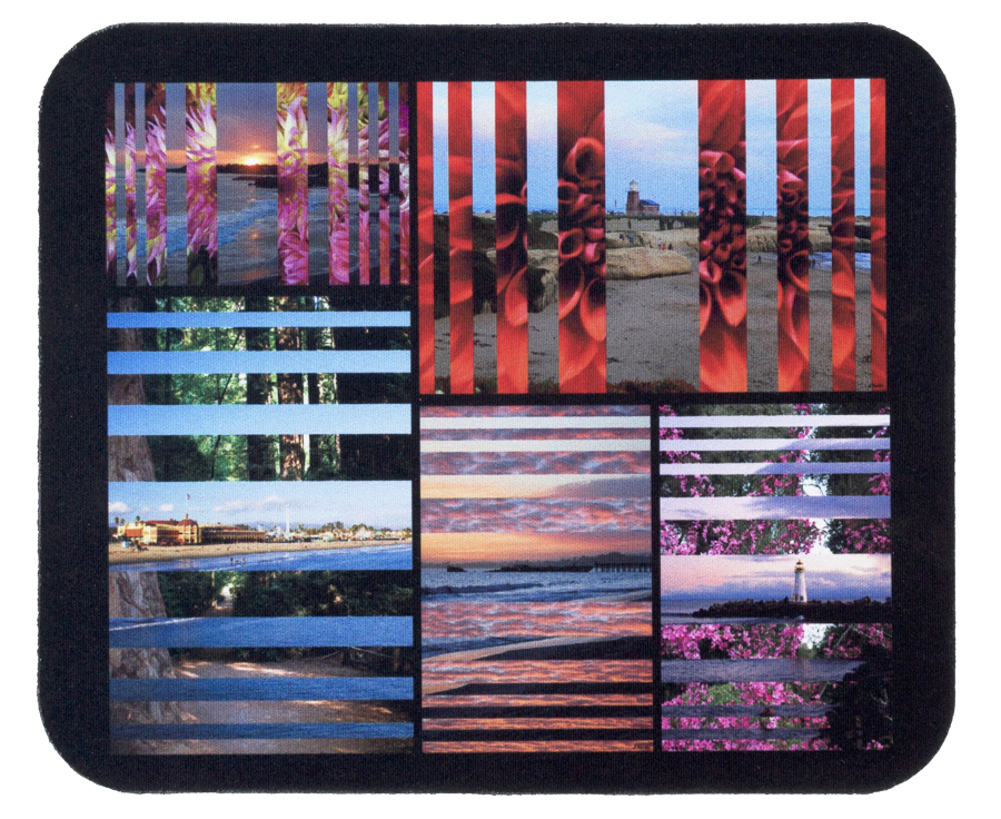 Santa Cruz Photo Collage Mousepad