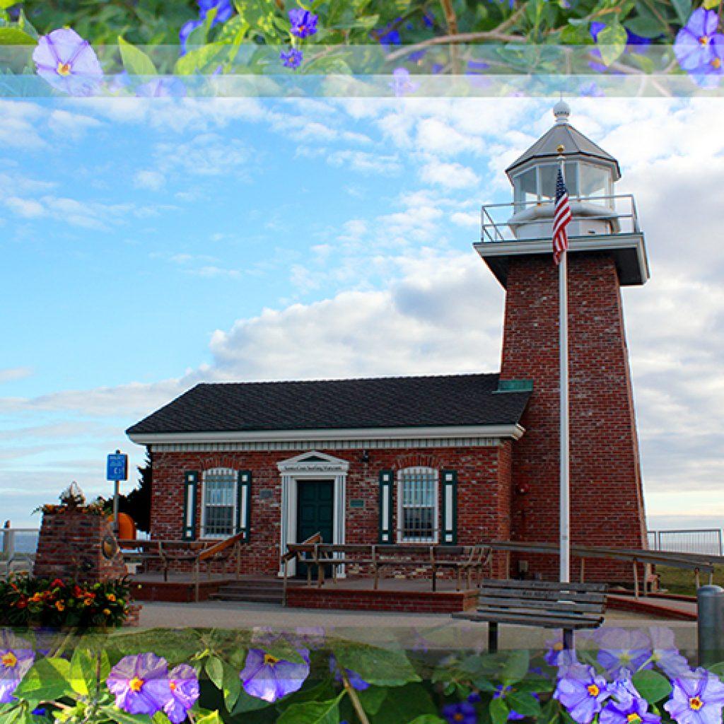 Flowered Abbott Lighthouse