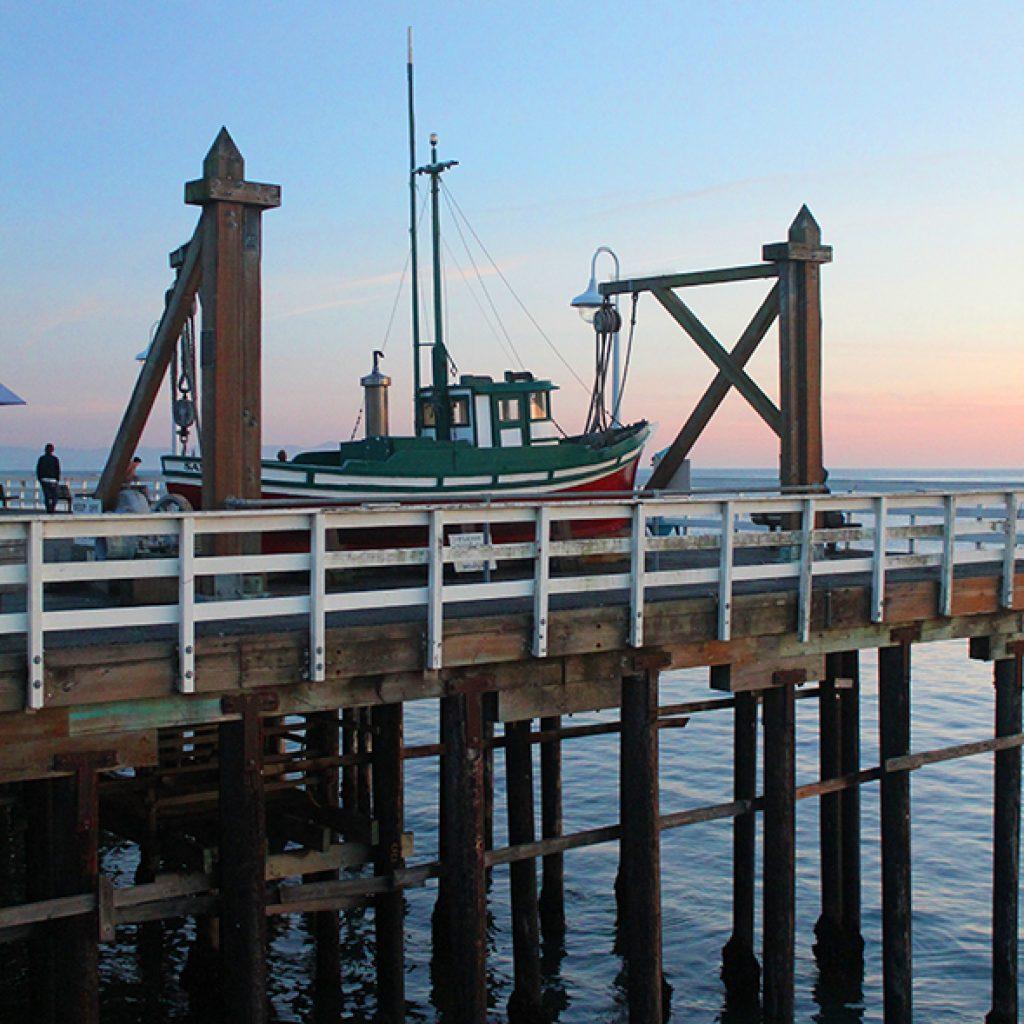 Santa Cruz Boat on Wharf