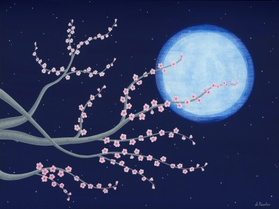 Moonlit Plum Tree